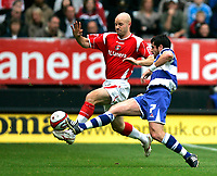 Photo: Tom Dulat.<br /> <br /> Charlton Athletic v Queens Park Rangers. Coca Cola Championship. 27/10/2007.<br /> <br /> Adam Bolder of Queens Park Rangers and Danny Mills of Charlton Athletic with the ball.