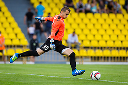 Axel Maraval of NK Domzale during football match between FC Shakhtyor Soligorsk and NK Domzale in first leg match of Second Qualifying Round UEFA Europa league qualifications on July 14, 2016 in Soligorsk, Belarus. Photo by Ziga Zupan / Sportida