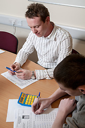 Young prisoner learning basic skills at young offenders institution HMYOI Wetherby