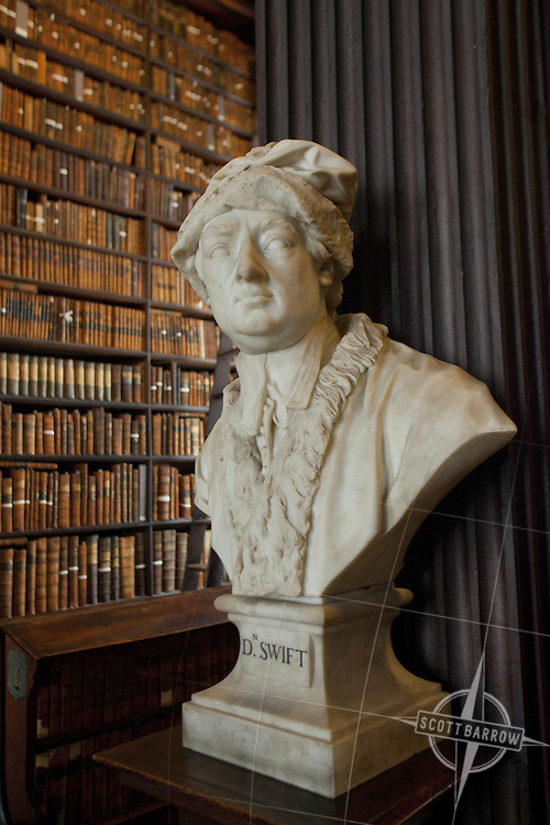 Bust Of D Swift In The Long Room Of The Trinity College Library In