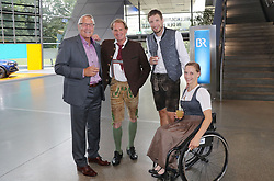 13.07.2019, BMW Welt, Muenchen, GER, Bayerischer Sportpreis Verleihung, im Bild Alois Schloder, Markus Wasmeier sowie Anna Schaffelhuber mit Partner // during the Bavarian Sports Award at the BMW Welt in Muenchen, Germany on 2019/07/13. EXPA Pictures © 2019, PhotoCredit: EXPA/ SM<br /> <br /> *****ATTENTION - OUT of GER*****