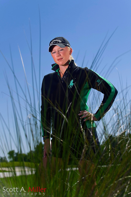 REUNION, FL - April 15: Morgan Pressel poses for a portrait during the Ginn Open at Reunion Resort on April 15, 2008 in Reunion, Florida. ©2008 Scott A. Miller