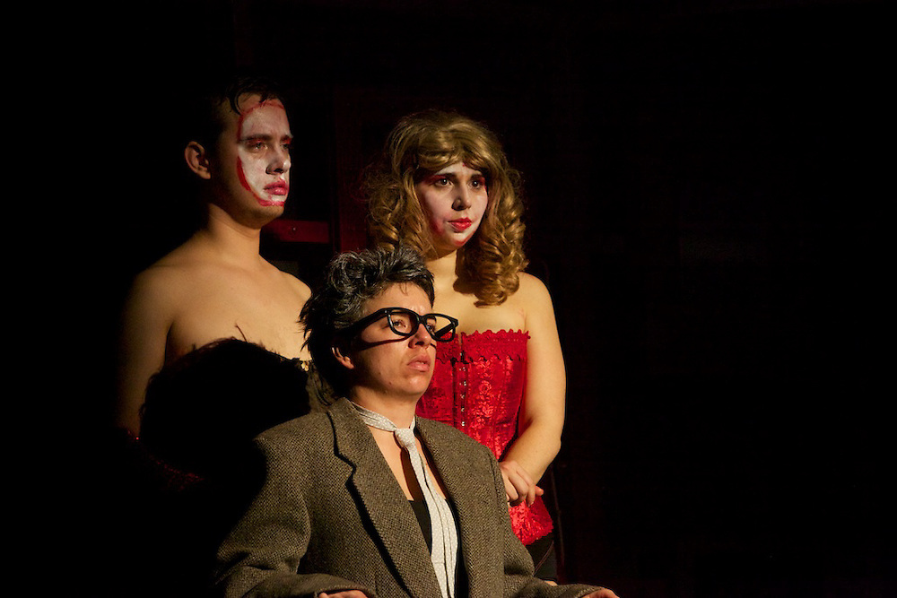 The Montreal Rocky Horror Picture Show Cast stage a live production in front of the the projected original film as part of a classic Montreal Halloween tradition. This year the film was shown a total of 8 times over 4 nights leading up to Halloween. The cast of more then 25 features Platik Patrik as host and a slew of dedicated lovers of the event.