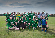 Hilltown Hotspurs celebrate with the trophy after winning the Dundee Saturday Morning Football League Premier Division&quot; University Grounds, Riverside, Dundee, Photo by David Young<br /> <br /> <br />  - &copy; David Young - www.davidyoungphoto.co.uk - email: davidyoungphoto@gmail.com