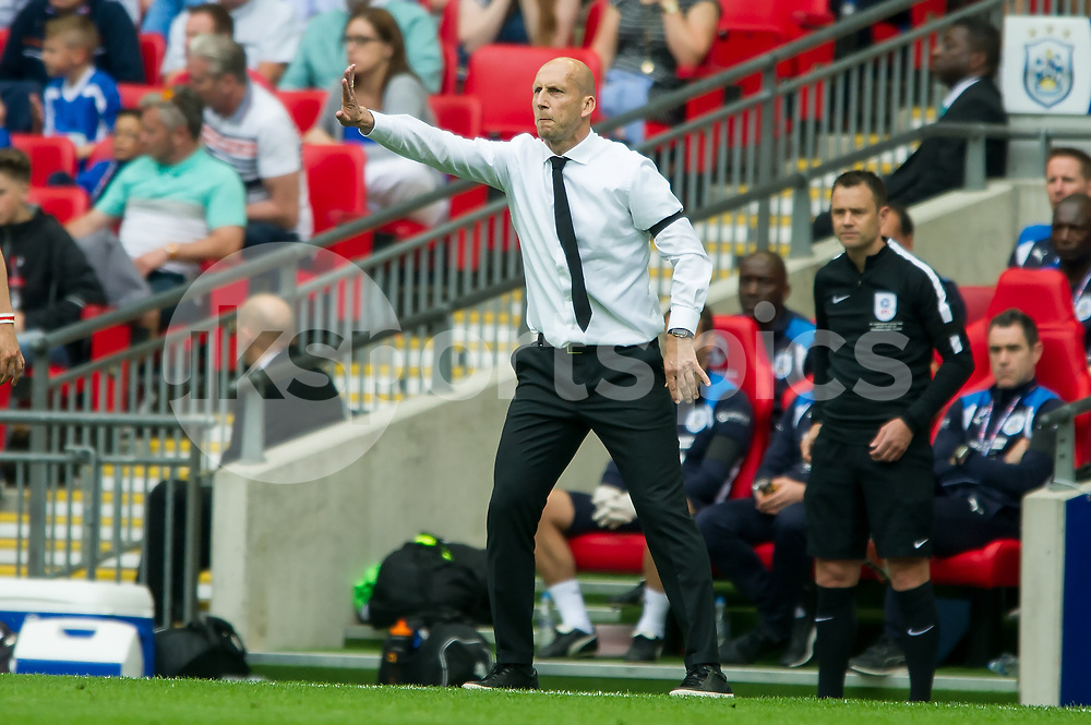 Jaap Stam manager of Reading during the EFL Sky Bet Championship Play-Off Final match between Huddersfield Town and Reading at Wembley Stadium, London, England on 29 May 2017. Photo by Salvio Calabrese.