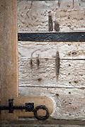 Claw marks of the mythical dog Black Shuck on church door, Blythburgh church, Suffolk, England