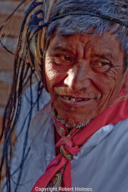 Mayos dancer in Caponos village, Copper Canyon, Mexico