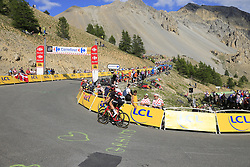 Riders climb Col d'Izoard during Stage 18 of the 104th edition of the Tour de France 2017, running 179.5km from Briancon to the summit of Col d'Izoard, France. 20th July 2017.<br /> Picture: Eoin Clarke | Cyclefile<br /> <br /> All photos usage must carry mandatory copyright credit (© Cyclefile | Eoin Clarke)