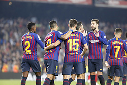 October 20, 2018 - Barcelona, Catalonia, Spain - FC Barcelona players celebrates during the match FC Barcelona against Sevilla FC, for the round 9 of the Liga Santander, played at Camp Nou  on 20th October 2018 in Barcelona, Spain. (Credit Image: © Mikel Trigueros/NurPhoto via ZUMA Press)