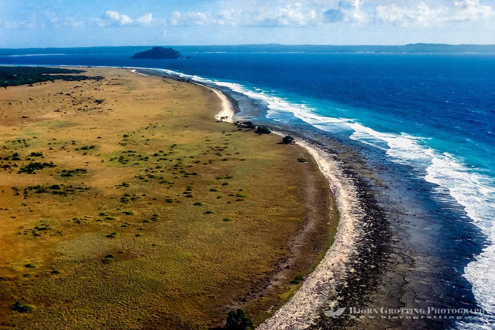 East Nusa Tenggara, Pulau Dana. The uninhabited Dana Island (also called Ndana), just south of Roti, with an area of 14 km2 (5 sq mi), is the southernmost island of Indonesia.