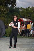 FRANCIS BOULE,  CHARLES FINCH'S CHUCS SWIMATHON 2013, SERPENTINE, Hyde Park, London. 4 July 2013.