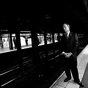 New York City Mayor Michael Bloomberg (I) rides the NYC subway to city hall Tuesday, October 30, 2007...Photo by Khue Bui