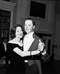The 11th DUKE OF MARLBOROUGH (The the Marquess of Blandford) with his 1st wife SUSAN at aBall at Blenheim Palace in March 1957.