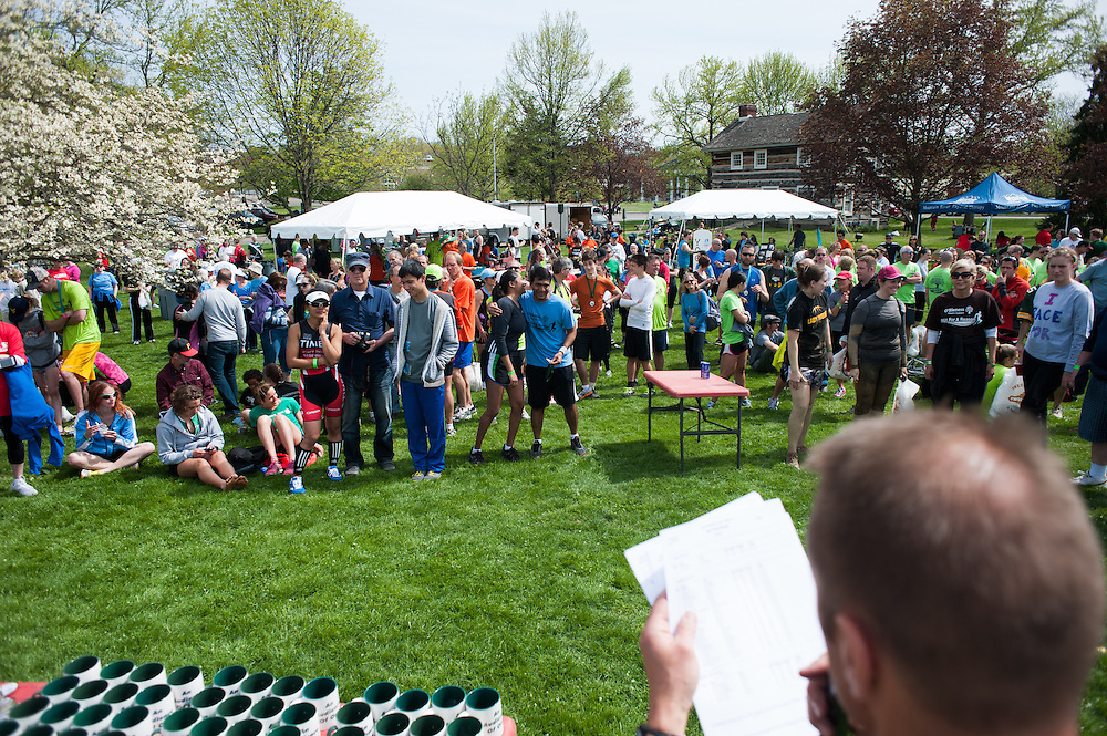 A crowd waits for awards to be announced after the Race for a Reason event. Photo by: Ross Brinkerhoff. Race for a Reason, Race 4 A Reason, Annual Events, Events, Students, Faculty & Staff
