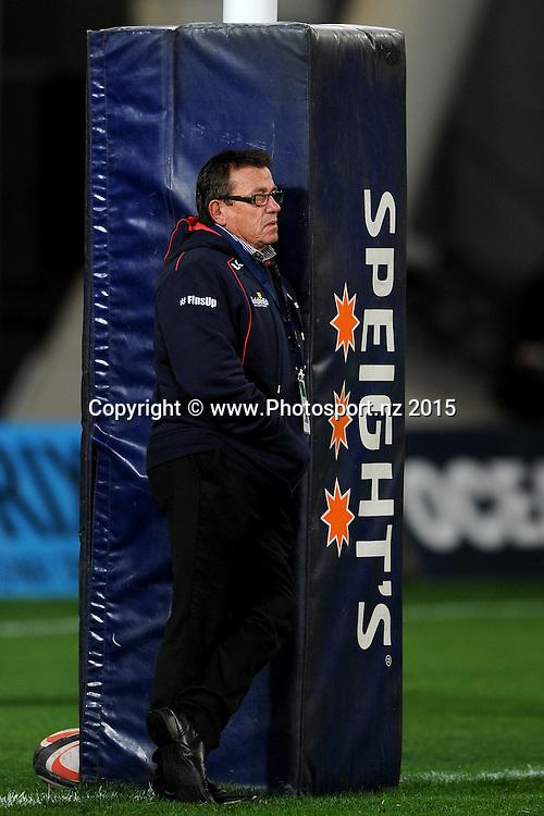 Kieran Keane coach of Tasman looks on, prior to the ITM Cup match between Otago and Tasman, held at Forsyth Barr Stadium, Dunedin, New Zealand, 4 September 2015. Credit: Joe Allison / www.Photosport.nz