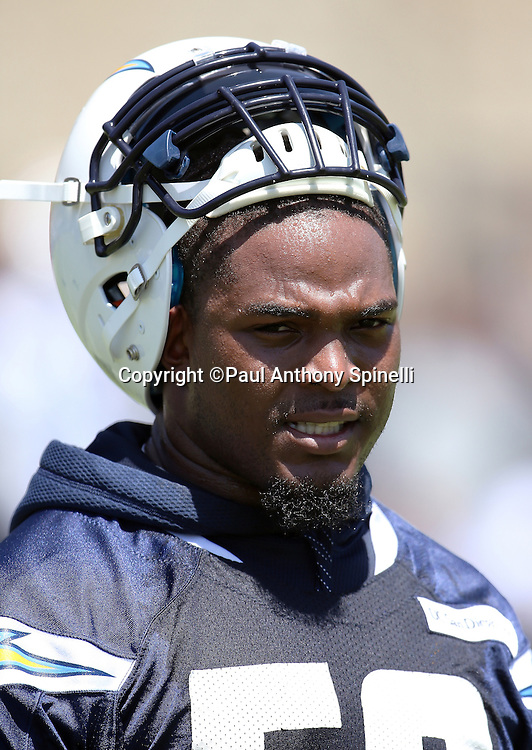San Diego Chargers inside linebacker Denzel Perryman (52) looks on during the Chargers 2016 NFL minicamp football practice held on Tuesday, June 15, 2016 in San Diego. (©Paul Anthony Spinelli)