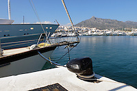 Yachts, marina, harbour, Puerto Banus, Marbella, Spain, April, 2016, 201604142415<br />