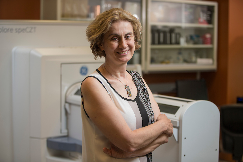 Researcher Maria Drangova poses for a photo in her lab at Western University in London, Ontario, Monday, June 23, 2014.<br /> Western University/ Geoff Robins
