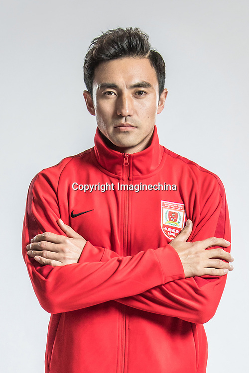 **EXCLUSIVE**Portrait of Chinese soccer player Zhang Xiaofei of Changchun Yatai F.C. for the 2018 Chinese Football Association Super League, in Wuhan city, central China's Hubei province, 22 February 2018.