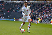MK Dons forward (on loan from Norwich City) Josh Murphy  on the ball during the Sky Bet Championship match between Milton Keynes Dons and Brentford at stadium:mk, Milton Keynes, England on 23 April 2016. Photo by Dennis Goodwin.