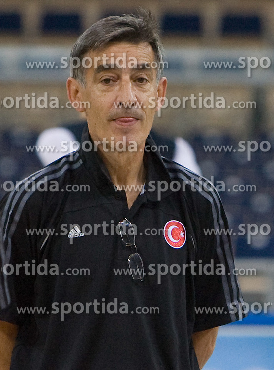 Head coach of Turkey Bogdan Tanjevic during the practice session, on September 11, 2009 in Arena Lodz, Hala Sportowa, Lodz, Poland.  (Photo by Vid Ponikvar / Sportida)