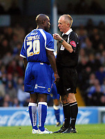 Photo: Dave Linney.<br />Cardiff City v Burnley. Coca Cola Championship. 11/11/2006. Referee P Walton.