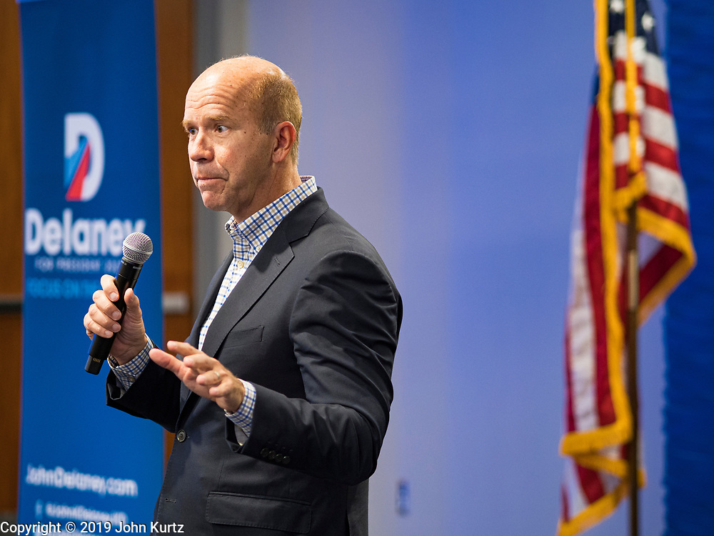 21 NOVEMBER 2019 - DES MOINES, IOWA: Delaney was the first Democrat to enter the race to become the Democratic nominee for the US Presidency. He talked to employees at the Nationwide Insurance building in Des Moines. Delaney is on his 40th trip to Iowa. Iowa hosts the first presidential selection event of the 2020 election cycle. The Iowa caucuses are on February 3, 2020.                    PHOTO BY JACK KURTZ