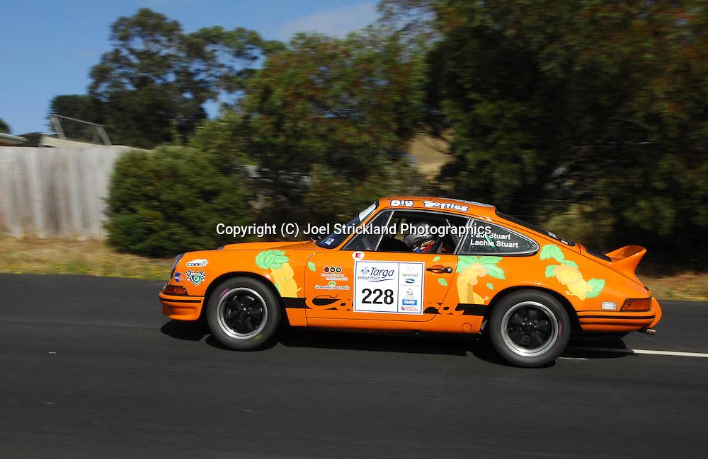 Paul Stuart & Lachie Stuart .1973 Porsche 911 Carerra RS.Day 2.Targa Wrest Point 2009.Southern Tasmania.1st of February 2009.(C) Joel Strickland Photographics.