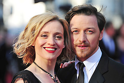 © Licensed to London News Pictures. 15/04/2012. London, England.James McAvoy and Anne-Marie Duff attends the 2012  Olivier Awards at The Royal Opera House in Covent Garden London on April 15th, England. Photo credit : ALAN ROXBOROUGH/LNP
