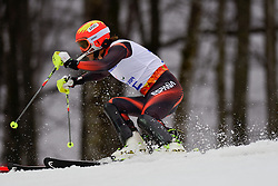 Yon SANTACANA MAIZTEGUI competing in the Alpine Skiing Super Combined Slalom at the 2014 Sochi Winter Paralympic Games, Russia