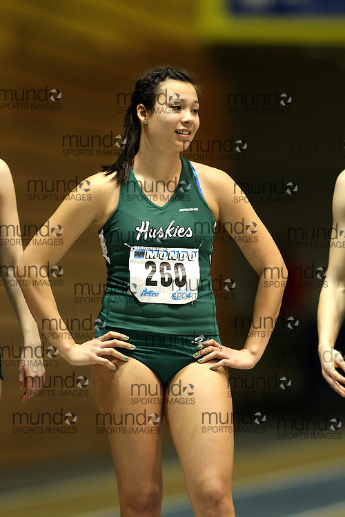 (Windsor, Ontario---11 March 2010) Veronika Smits of University of Saskatchewan competes in the  competes in the pentathlon 800m at the 2010 Canadian Interuniversity Sport Track and Field Championships at the St. Denis Center. Photograph copyright Claus Andersen/Mundo Sport Images. www.mundosportimages.com