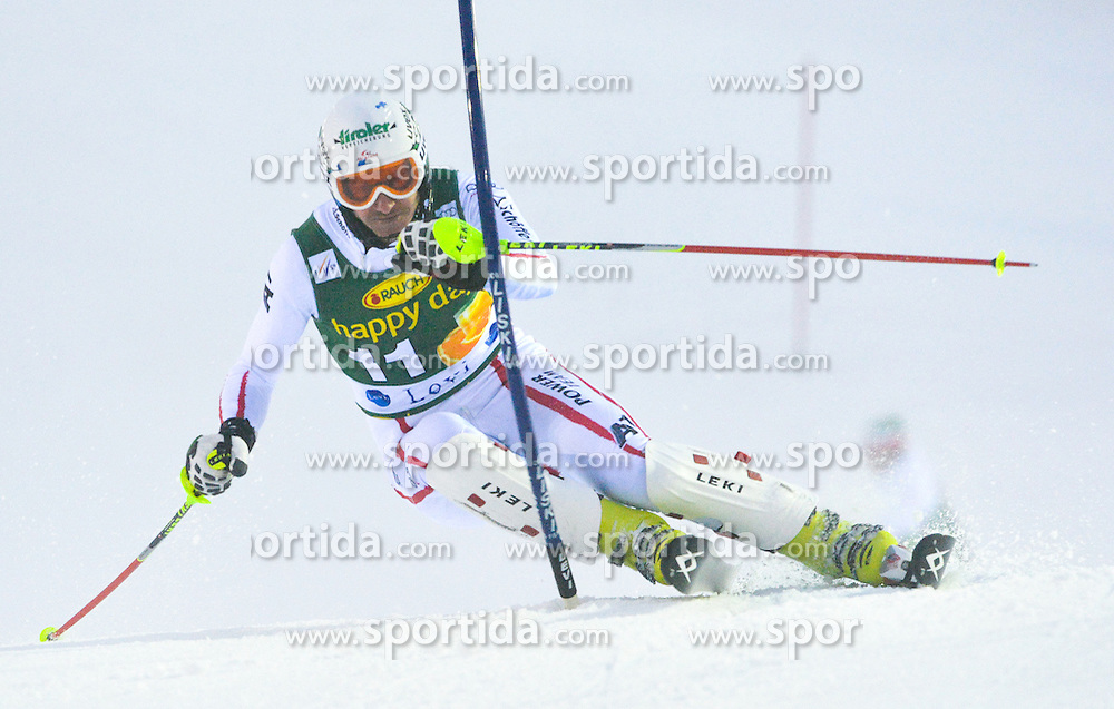 11.11.2012, Levi Black, Levi, FIN, FIS Ski Alpin Weltcup, Slalom, Herren, 1. Durchgang, im Bild Manfred Pranger (AUT) // Manfred Pranger of Austria during 1st run of mens Slalom of FIS ski alpine world cup at Levi Black course in Levi, Finland on 2012/11/11. EXPA Pictures © 2012, PhotoCredit: EXPA/ sportbild.se/ Nisse Schmidt..***** A11ENTION - OUT OF SWE *****