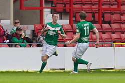 WREXHAM, WALES - Saturday, May 3, 2014: Aberystwyth Town's Chris Venables celebrates scoring the first goal against The New Saints during the Welsh Cup Final at the Racecourse Ground. (Pic by David Rawcliffe/Propaganda)