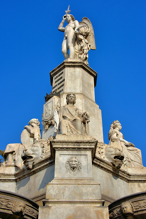 Marquis of Campo Sagrado Monument in Ciutat Vella District in Barcelona, Spain<br />