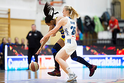 Larisa Ocvirk of Slovenia during basketball match between National teams of Slovenia and Romania in 4. round of FIBA Women's EuroBasket 2019 Qualifiers, on February 14, 2018 in Dvorana Gimnazija Celje - Center, Slovenia. Photo by Urban Urbanc / Sportida