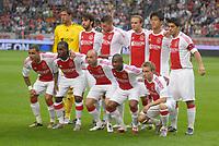 Football - Dutch Supercup (Johan Cruijffschaal)  - AFC Ajax vs FC Twente Enschede. The Ajax squad, Maarten Stekelenburg, Oleguer, Toby Alderweireld, Siem de Jong, Hyun Jun Suk, Luis Suarez, Gregory van der Wiel, Vurnon Anita, Demy de Zeeuw, Eyong Enoh and Christian Eriksen.