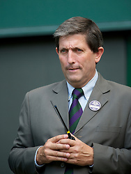 LONDON, ENGLAND - Wednesday, June 30, 2010: Tournament Referee Andrew Jarrett during the Gentlemen's Singles Quarter-Final on day nine of the Wimbledon Lawn Tennis Championships at the All England Lawn Tennis and Croquet Club. (Pic by David Rawcliffe/Propaganda)
