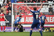 Birmingham City midfielder, Jon Toral (20) scoring opening goal 0-1 during the Sky Bet Championship match between Charlton Athletic and Birmingham City at The Valley, London, England on 2 April 2016. Photo by Matthew Redman.