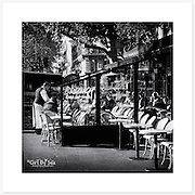 Caf&eacute;, Paris, France - Monochrome version. Inkjet pigment print on Canson Infinity Rag Photographique 310gsm 100% cotton museum grade Fine Art and photo paper.<br /> <br /> 8x8&quot; Prints: First print $49. Additional prints in same order $29. (A half inch white border is added for safe handling. Size with border 9x9&rdquo;).<br /> <br /> Frame-Ready Prints: Add $29 per print. Includes mounting on 12x12&rdquo; foam-board, plus white matboard with 8x8&rdquo; photo opening. Suits standard 12x12&rdquo; frames.<br /> <br /> Price includes GST &amp; postage within Australia. <br /> <br /> Order by email to orders@girtbyseaphotography.com  quoting image title or reference number, your contact details, delivery address &amp; preferred payment method (PayPal or Bank Deposit). You will be invoiced by return email. Normally ships within 7 days of payment.