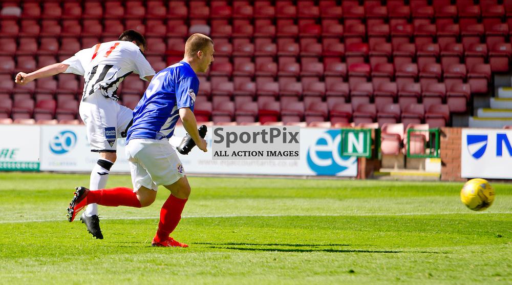 Dunfermline Athletic v Cowdenbeath SPFL League One Season 2015/16 East End Park 15 August 2015<br /> Joe Cardle makes it 4-0<br /> CRAIG BROWN | sportPix.org.uk