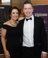 repro free: Aine and Paul McDermott BAM <br />  at the SCSI, Society of Chartered Surveyors of Ireland West branch Annual Dinner 2017 at the Ardilaun Hotel, Galway. Photo:Andrew Downes.