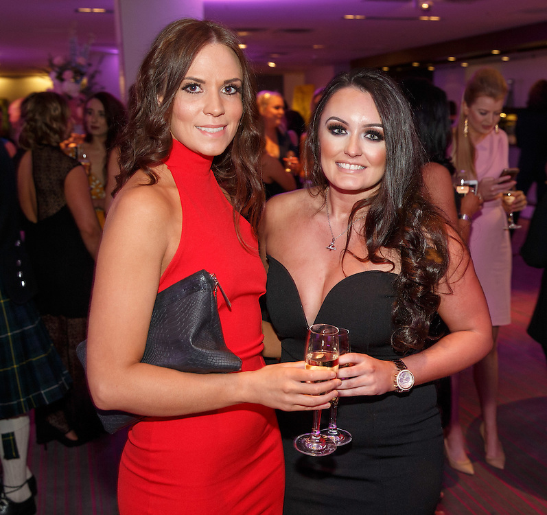 BNO Maggie's Spring Ball at Radisson Hotel Glasgow. L to R :   Susan Graham and Stephanie McDermott. Picture Robert Perry for The Herald and  Evening Times 23rd April 2016<br /> <br /> Must credit photo to Robert Perry<br /> <br /> FEE PAYABLE FOR REPRO USE<br /> FEE PAYABLE FOR ALL INTERNET USE<br /> www.robertperry.co.uk<br /> NB -This image is not to be distributed without the prior consent of the copyright holder.<br /> in using this image you agree to abide by terms and conditions as stated in this caption.<br /> All monies payable to Robert Perry<br /> <br /> (PLEASE DO NOT REMOVE THIS CAPTION)<br /> This image is intended for Editorial use (e.g. news). Any commercial or promotional use requires additional clearance. <br /> Copyright 2016 All rights protected.<br /> first use only<br /> contact details<br /> Robert Perry     <br /> 07702 631 477<br /> robertperryphotos@gmail.com<br />         <br /> Robert Perry reserves the right to pursue unauthorised use of this image . If you violate my intellectual property you may be liable for  damages, loss of income, and profits you derive from the use of this image.