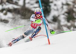 26.01.2020, Streif, Kitzbühel, AUT, FIS Weltcup Ski Alpin, Slalom, Herren, im Bild Henrik Kristoffersen (NOR) // Henrik Kristoffersen of Norway in action during his run in the men's Slalom of FIS Ski Alpine World Cup at the Streif in Kitzbühel, Austria on 2020/01/26. EXPA Pictures © 2020, PhotoCredit: EXPA/ Stefan Adelsberger