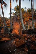 Heiau, Sunrise, Wailua River State Beach Park, Kauai, Hawaii