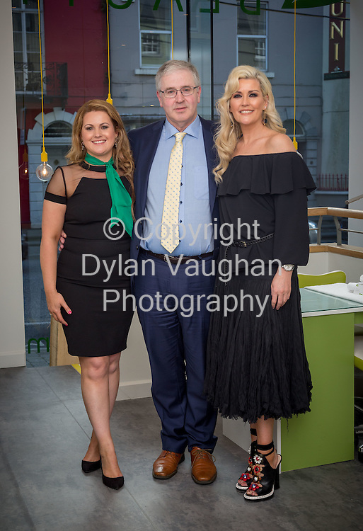 Repro Free no charge for Repro<br /> 19-5-16<br /> <br /> A brand new beauty experience has launched in Kilkenny. The city&rsquo;s four star boutique Pembroke Hotel has opened its new &lsquo;MINT at the Pembroke&rsquo; Beauty, Laser and Shop destination. Pictured at the launch are <br /> Sarah Millea, Manager of MINT at the Pembroke, John Ryan, Owner of the Pembroke Hotel and MINT at the Pembroke and Stylist, Broadcaster and Author, Lisa Fitzpatrick.<br /> <br /> Picture Dylan Vaughan.
