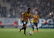 STOCKHOLM, SWEDEN - MARCH 12: Nasiru Mohammed of BK Hacken during the Swedish Cup Quarterfinal between Djurgardens IF and BK Hacken at Tele2 Arena on March 12, 2018 in Stockholm, Sweden. Photo by Nils Petter Nilsson/Ombrello<br /> ***BETALBILD***