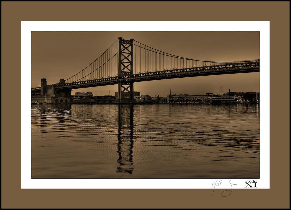 Ben Franklin Bridge, Philadelphia, PA.  2009