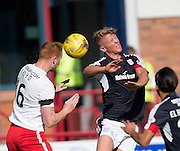 Dundee&rsquo;s Mark O&rsquo;Hara and Kilmarnock&rsquo;s Scott Boyd - Dundee v Kilmarnock in the Ladbrokes Scottish Premiership at Dens Park, Dundee. Photo: David Young<br /> <br />  - &copy; David Young - www.davidyoungphoto.co.uk - email: davidyoungphoto@gmail.com