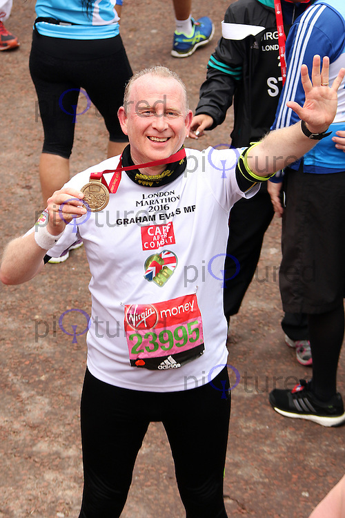 Graham Evans, Virgin Money London Marathon, London UK, 24 April 2016, Photo by Brett D. Cove