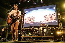 A banda de surf music Seu Cuca se apresenta no palco Atlântida durante a 20ª edição do Planeta Atlântida, que ocorre nos dias 29 e 30 de janeiro, na SABA, na praia de Atlântida, no Litoral Norte gaúcho.  Foto: Pedro H. Tesch / Agência Preview